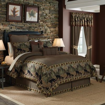 Croscill® Grand Lake Full Comforter Set in Brown