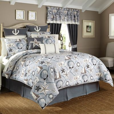 Croscill® Yachtsman Queen Comforter Set in Light Blue