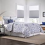 Real Simple Lisbon Reversible Full/Queen Comforter Set in Blue/White