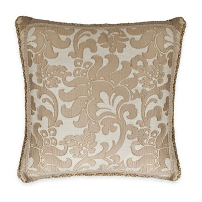 Gold Square Decorative Pillow
