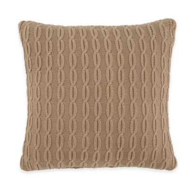 Croscill® Summit Square Throw Pillow in Brown