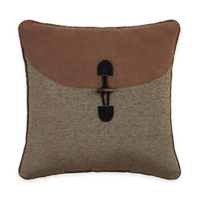 Croscill® Grand Lake Fashion Square Throw Pillow in Brown