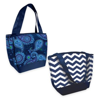 Fit & Fresh® Hyannis Insulated Lunch Bag in Navy/White Chevron