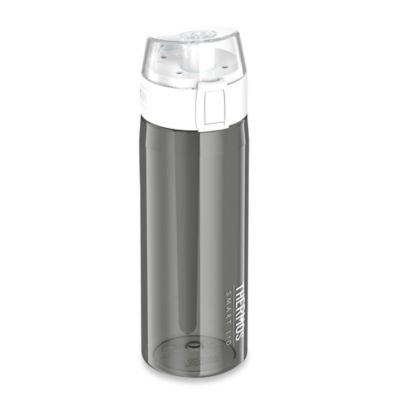 Thermos Connected Hydration Bottle with Smart Lid in Smoke