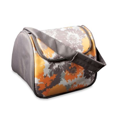 Fit and Fresh Costa Mesa Insulated Lunch Bag in Yellow Flower Print