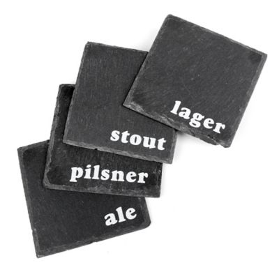 Thirstystone Craft Beer Slate Coasters (Set of 4)