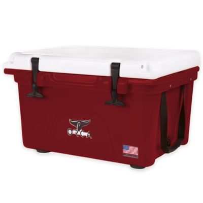 Orca 26 qt. Ice Retention Cooler in Crimson/White