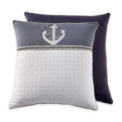 Croscill® Yachtsman European Pillow Sham in Navy/White