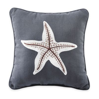 Croscill® Yachtsman Starfish Square Throw Pillow in Medium Blue