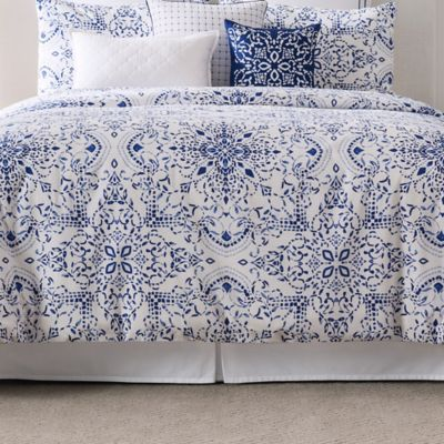 Real Simple Lisbon King Bed Skirt in White