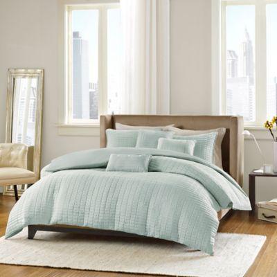 Madison Park ECO Weave Parker Full/Queen Comforter Set in Seafoam