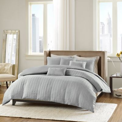 Madison Park ECO Weave Parker Full/Queen Comforter Set in Grey