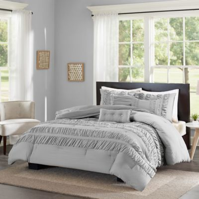 Madison Park ECO Weave Marley Full/Queen Comforter Set in Grey