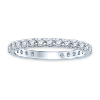 14K White Gold 1.0 cttw Diamond Size 5.5 Ladies' Eternity Wedding Band