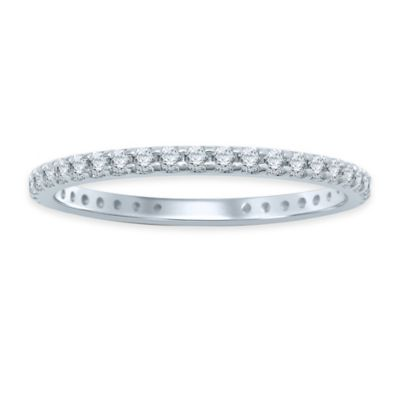 14K White Gold .50 cttw Diamond Size 4 Ladies' Eternity Wedding Band