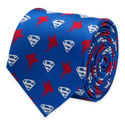 DC Comics™ Superman Logo Tie in Blue/Red