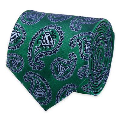 DC Comics™ Superman Logo Paisley Tie in Green/Navy