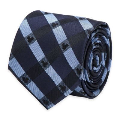 Disney® Mickey Mouse Plaid Tie in Blue