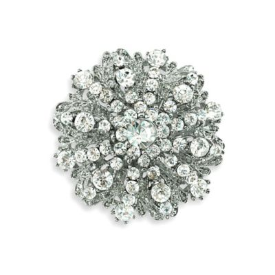 Serendipity Rhinestone Medallion Wedding Brooch