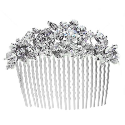Faceted Rhinestone Clusters Wedding Hair Comb
