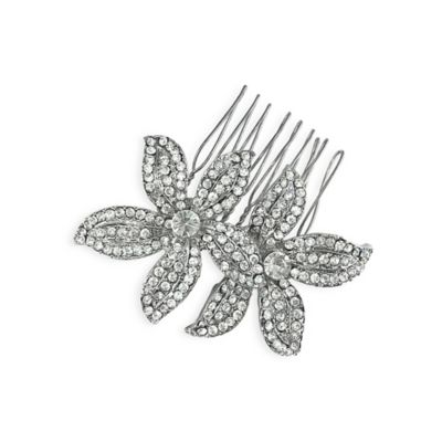Serendipity Double Flower Rhinestone Hair Comb