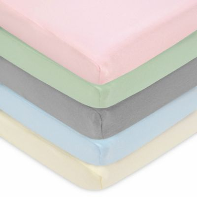 TL Care® Cotton Jersey Pack 'n Play Fitted Playard Sheet in Blue