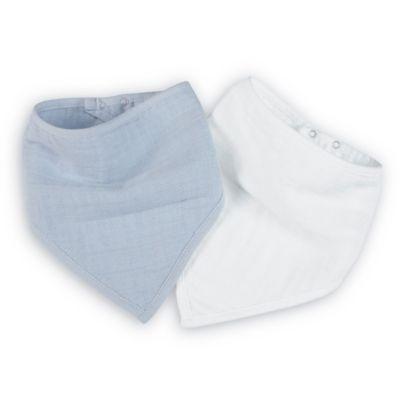 aden + anais® 2-Pack Bandana Bibs in Blue/White