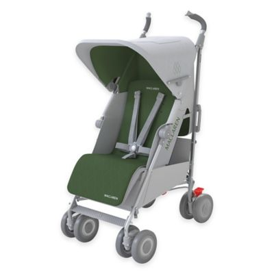 Silver/Highland Green Umbrella Strollers