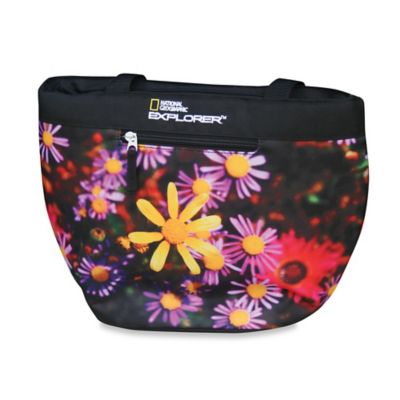 National Geographic® Flowers Insulated Lunch Tote