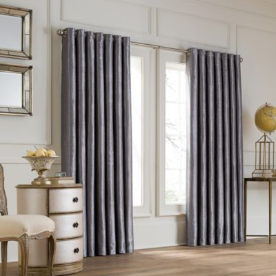 Valeron Lustre Grommet Top 108-Inch Wide x 95-Inch Long Window Curtain Panel in Charcoal