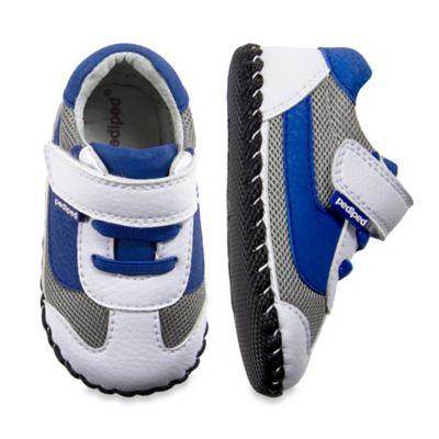 pediped® Originals Size 0-6M Cliff Sneaker in White/Blue