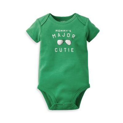 "carter's® Size 12M ""Major Cutie"" Bodysuit in Green"
