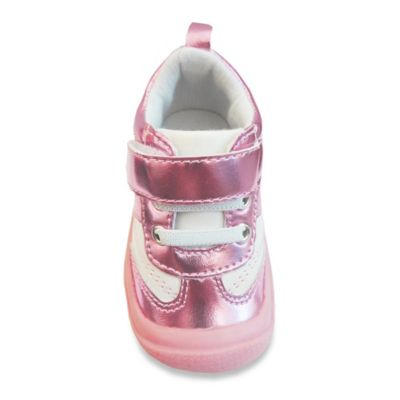 Rising Star™ Training Heels™ Size 5 Metallic Sneaker in Pink/White