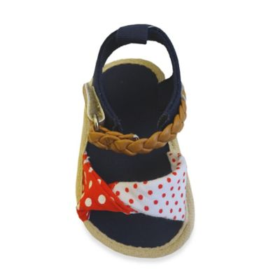 Rising Star™ Size 6-9M Polka Dot Sandal in Red/White
