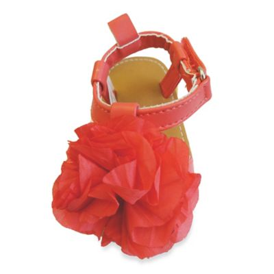 Size 6 Flower Sandal in Coral