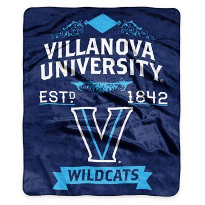 NCAA Villanova University Super Plush Raschel Throw Blanket