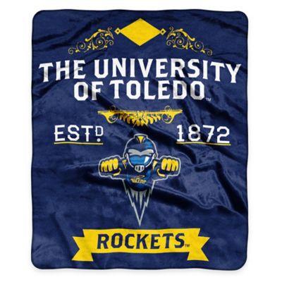 NCAA University of Toledo Super Plush Raschel Throw Blanket