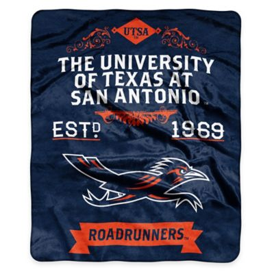NCAA University of Texas at San Antonio Super Plush Raschel Throw Blanket