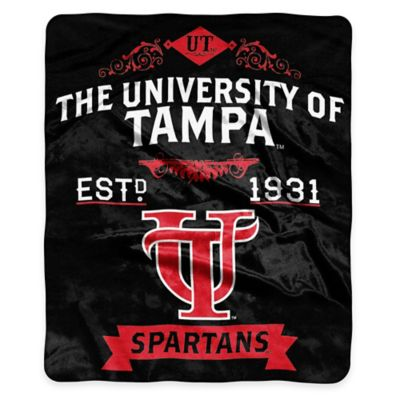 NCAA University of Tampa Super Plush Raschel Throw Blanket