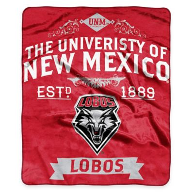 NCAA University of New Mexico Super Plush Raschel Throw Blanket