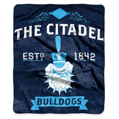 NCAA The Citadel Super Plush Raschel Throw Blanket