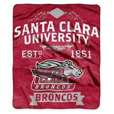 NCAA Santa Clara University Super Plush Raschel Throw Blanket