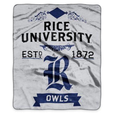 NCAA Rice University Super Plush Raschel Throw Blanket