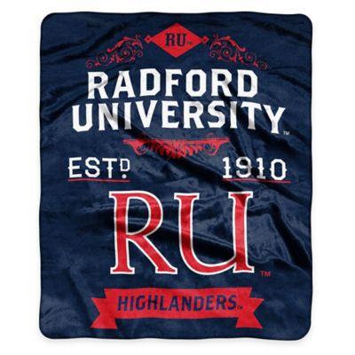 NCAA Radford University Super Plush Raschel Throw Blanket