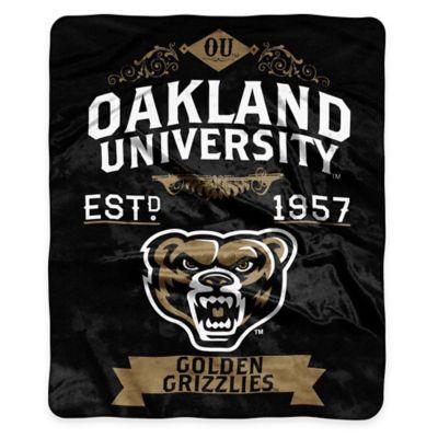 NCAA Oakland University Super Plush Raschel Throw Blanket