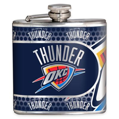 NBA Oklahoma City Thunder Stainless Steel Metallic Hip Flask