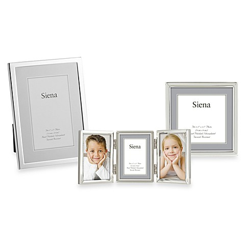 Siena Silver Plated Narrow Plain 5-Inch x 7-Inch Picture Frame