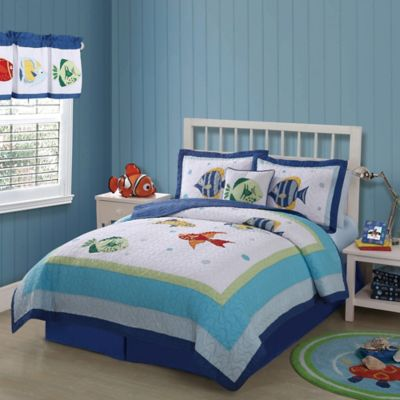 Colorful Sea Full/Queen Quilt Set