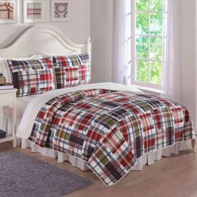Preppy Plaid Full/Queen Quilt Set