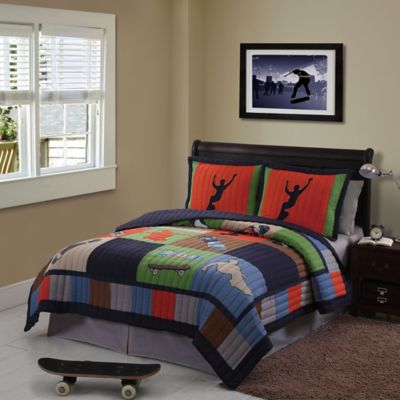 Cool Skate Twin Quilt Set